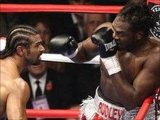 David Haye and Audley Harrison in action