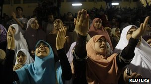 Female supporters of Muslim Brotherhood, 28/12