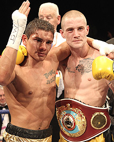 Andreas Evensen (left) and Ricky Burns