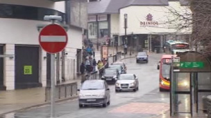 View of Bangor city centre