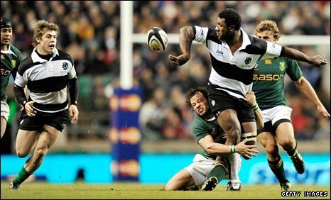 The Barbarians match against South Africa at Twickenham went ahead