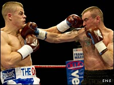 Callum Johnson and Phllip Townley trade punches