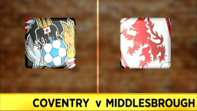 Coventry v Middlesbrough