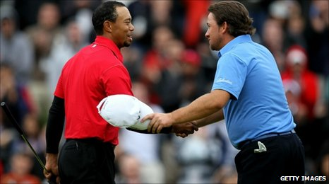 Tiger Woods and Graeme McDowell