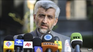 Iran's negotiator Saeed Jalili is meeting leading EU and UN officials