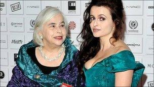 Helena Bonham Carter, right, with mother Elena