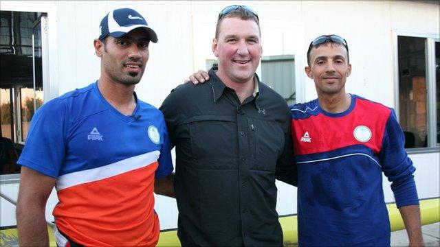 Haider Rashid, Matthew Pinsent and Hamza Hussein