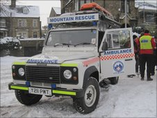 Rescue team's Land Rover