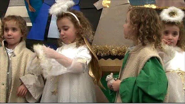 Carles quads in nativity play