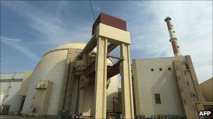 Reactor building at the Bushehr nuclear power plant