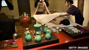 Spa treatment at a Banyan Tree resort