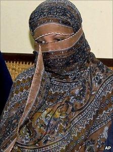 Asia Bibi in prison in November 2010