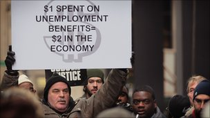 99ers protesting to extend unemployment benefits
