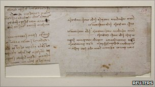 Leonardo da Vinci manuscript discovered in Nantes public library, 6 December 2010