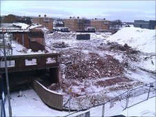 Demolition in Newton Aycliffe