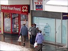 Shoppers in Newton Aycliffe