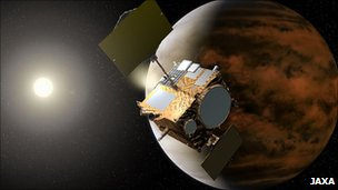 Artist's impression of the Akatsuki probe (Jaxa)