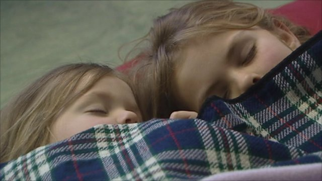 Snowed-in school children spend the night in their classroom