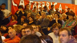Supporters of Nichi Vendola