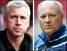 Alan Pardew and Martin Jol