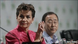 Christiana Figueres and Ban Ki-moon