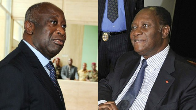 Laurent Gbagbo and Alassane Dramane Ouattara