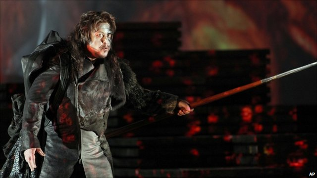 Ukrainian bass Vitalij Kowaljow performing in Wagner's The Valkyrie at La Scala