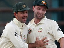 Ricky Ponting and Phil Hughes