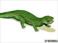 Artists impression of Simosuchus clarki (c) Nobu Tamura