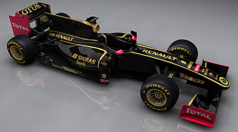 The 2011 livery of the new Lotus Renault team