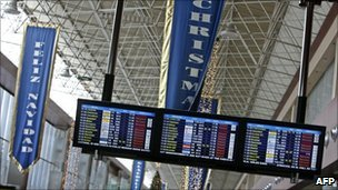 Electronics boards at Tenerife South-Reina Sofia airport