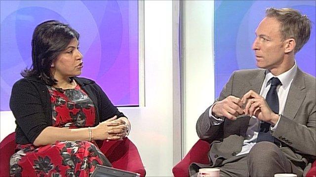 Baroness Warsi and Jim Murphy