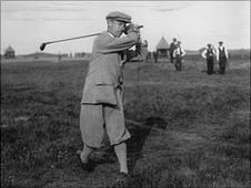 J L C Jenkins competing in the Amateur Golf Championship at Sandwich in 1914