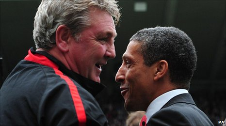 Steve Bruce (left) and Chris Hughton