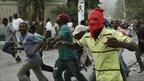 Protests in Port-au-Prince, 8 December 2010