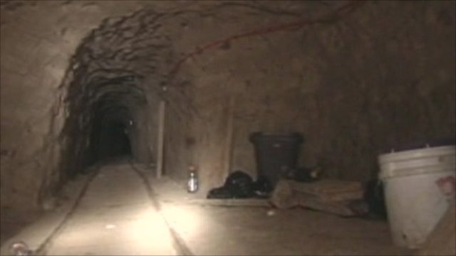 Drug tunnel from Mexico to US