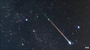 A meteor shower seen over the UK last year. Pic: Pete Lawrence