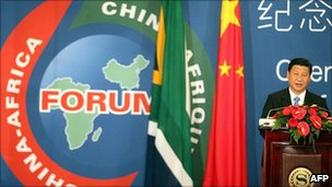 Chinese Vice-President Xi Jinping in South Africa. 18 Nov 2010