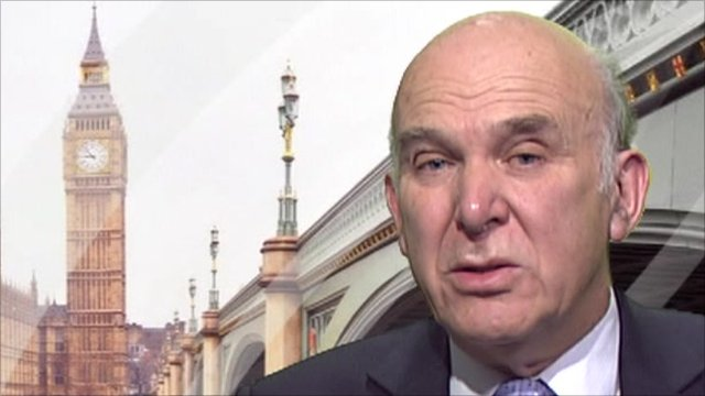 Liberal Democrat Business Secretary, Vince Cable