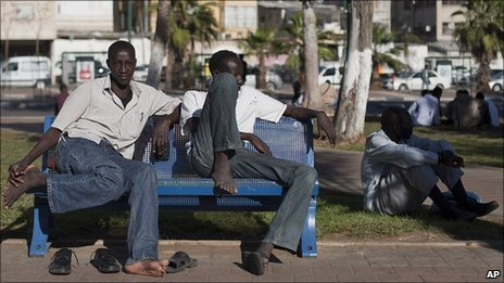 African asylum-seekers in Tel Aviv