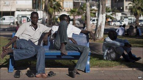 African asylum-seekers in Tel Aviv