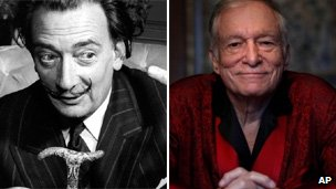 Salvador Dali and Hugh Hefner