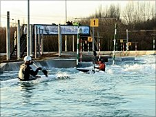 London 2012 slalom canoe course