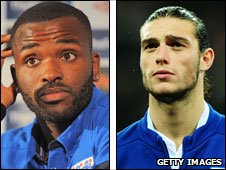 Darren Bent and Andy Carroll