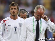 David Beckham and Sven-Goran Eriksson