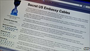 Wikileaks website, AFP/Getty