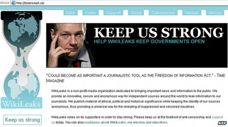 WikiLeaks screen grab