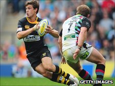 Wasps' Dominic Waldouck and Will Skinner of Harlequins