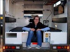 Dr Emily Lethbridge and ambulance