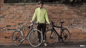 Dr Groves and his bikes